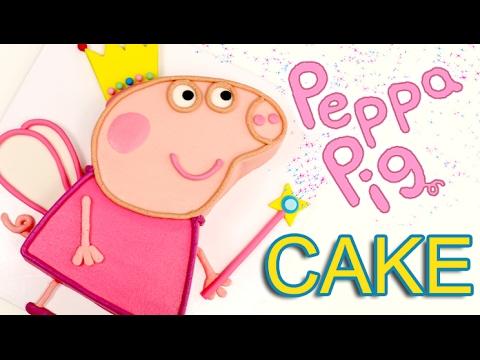 Easy Peppa Pig Birthday Cake Youtube