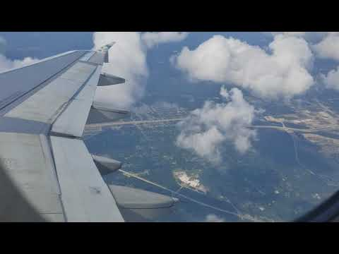 Houston airport (IAH) flight landing