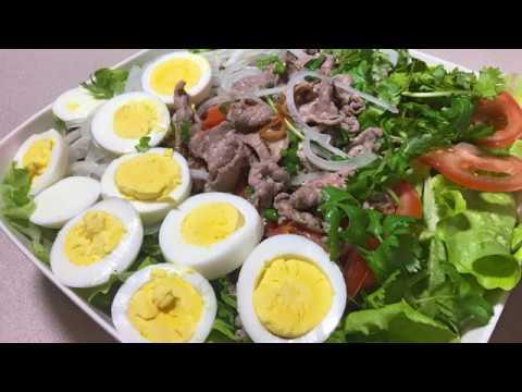 Cách Xào Thịt Bò Ngon Trộn Xà Lach – Lettuce Beef Egg Salad