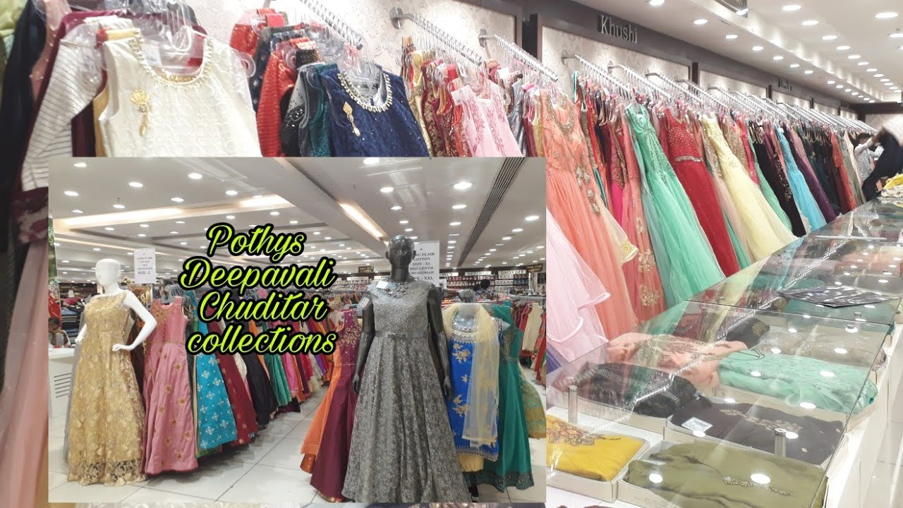f6c4ef7bb1f9a Pondicherry Pothys Annasalai Floor length Anar kali Chuditar with price