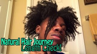 natural hair journey 3 years growth length check 1