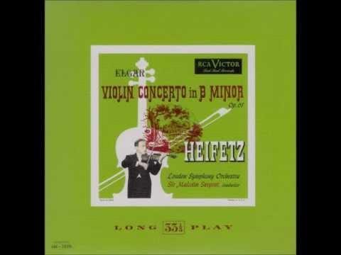 Heifetz interpreta Elgar Violin Concerto op 61