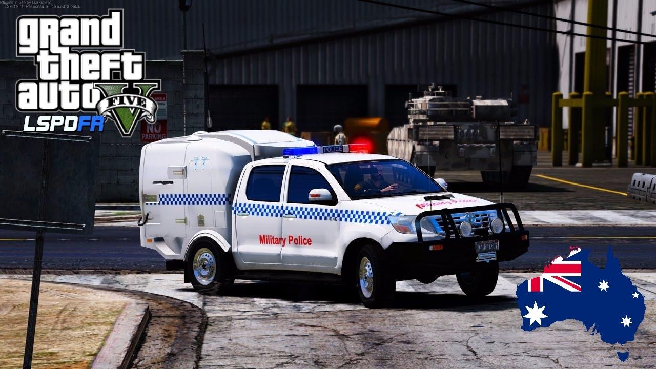 Gta 5 Lspdfr Australia Military Police Toyota Hilux Patrol Play