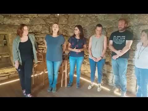 Visita da Vicerreitora do Campus de Ourense e da decana da Facultade de Historia ao Castelo de Lobarzán, en Oímbra