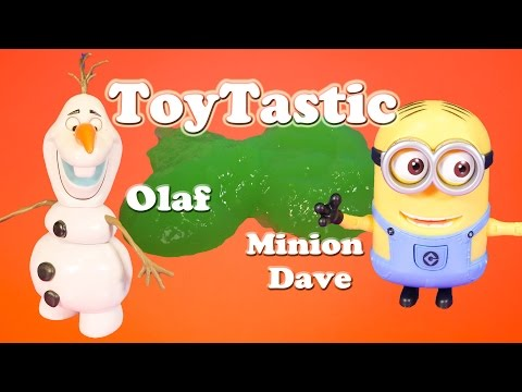 TOYTASTIC  Frozen Olaf vs Despicable Me Minion Dave TheEngineeringFamily Toy Video