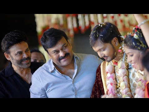 Chiranjeevi & Venkatesh At Journalist Prabhu Daughter Wedding | TFPC