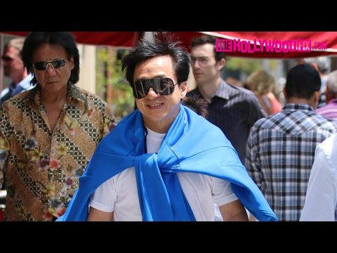 Jackie Chan Arrives To Beverly Hills To Meet Up With Chris Tucker To Discuss Rush Hour 4 - 6.1.15