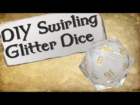 How to Make Your Own Dice Set | Swirling Glitter Dice
