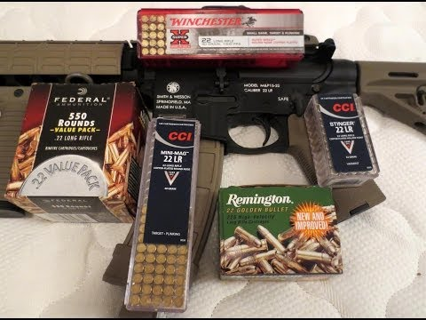 Smith & Wesson M&P 15-22: Recommended Ammo Use