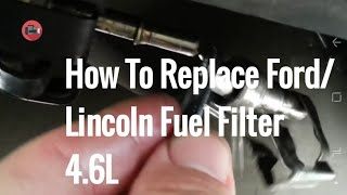 How to Replace a Fuel Filter on a Lincoln Towncar Ford or Mercury.