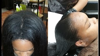 PART 1 Touchup/Update Japanese Hair Straightening/Thermal Reconditioning