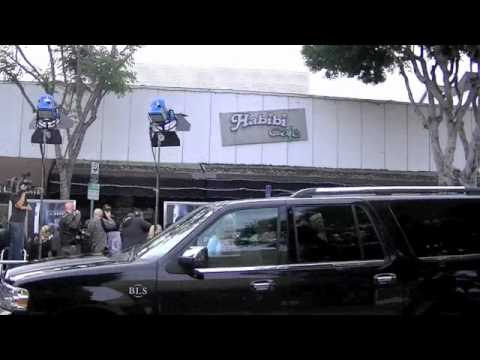 Download Steven Spielberg at Super 8 premiere signing my painting