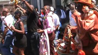 Jazz funeral for Sudan member Kenneth Dykes - Second line leaving Treme Center