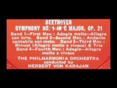 Beethoven / Herbert von Karajan, 1954: Symphony No. 1 in C Major, Op. 21 - Complete