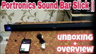 Portronics Sound Slick || Por-936 Bluetooth 40W  Soundnar Speaker Unboxing And Review