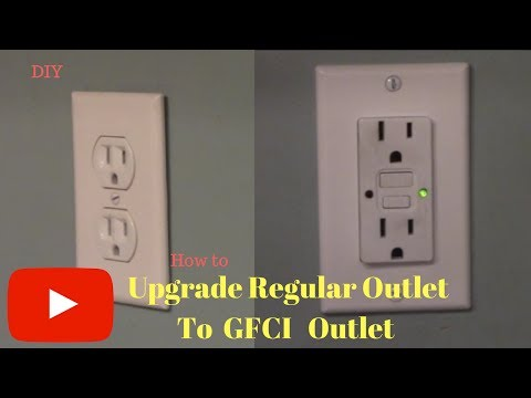 Removing and Replacing regular outlet with GFCI outlet - YouTube