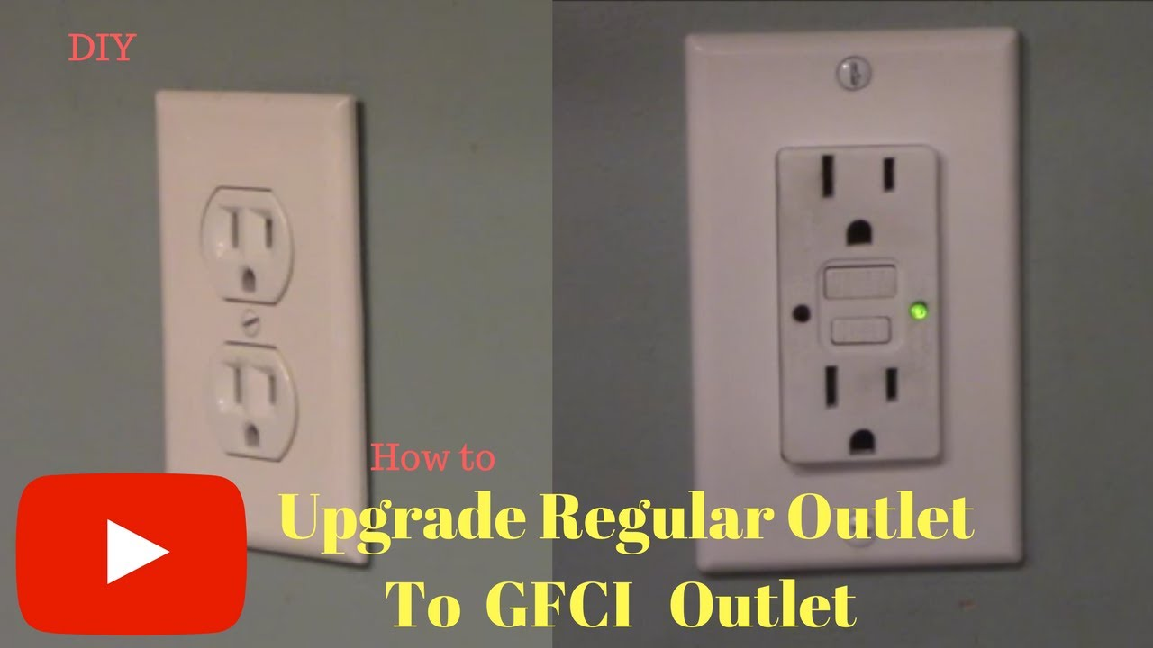 Removing And Replacing Regular Outlet With Gfci Outlet Youtube