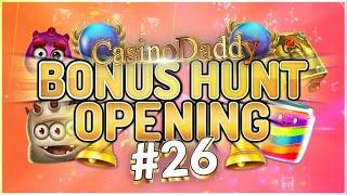 €35000 Bonus Hunt - Casino Bonus opening from Casinodaddy LIVE Stream #26