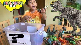 WHAT'S INSIDE THE BOX? 100++ Dinosaur toys for kids trex triceratops raptor jurassic world toys