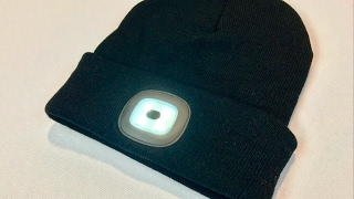 4 LED Rechargeable Hands Free Flashlight Cap Knit Hat Beanie review