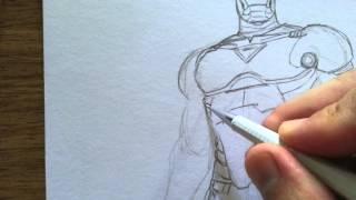 Drawing Iron Man Sketch