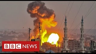 Thousands of Palestinians flee as Israel intensifies assault on Gaza - BBC News