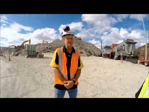 Ward Demolition's Auckland yard