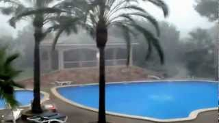 Violent storm in Mallorca yesterday