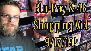 Blu-Ray \u0026 4K Shopping Video for 9/17/19!