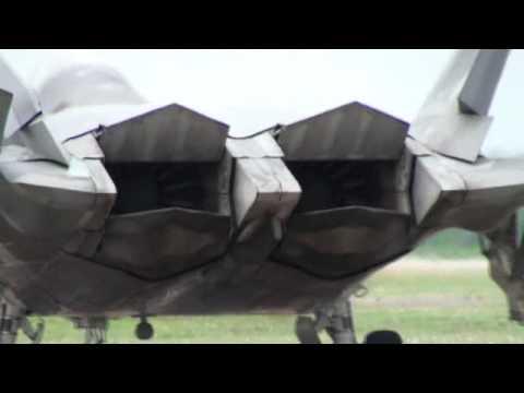 F-22 Thrust Vectoring Nozzles