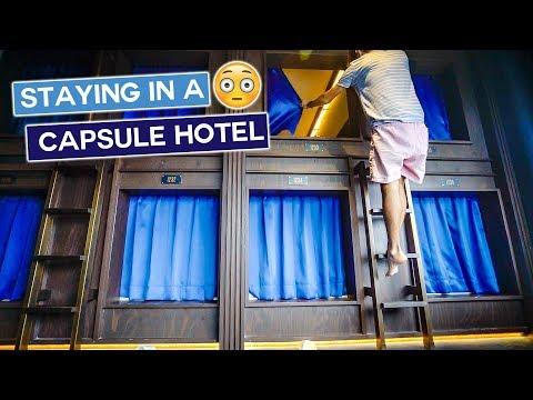Tokyo Capsule Hotel Experience | Japan Travel Vlog