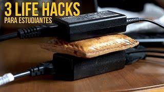 3 Life Hacks para estudiantes - Tips para universitarios (Experimentos Caseros)