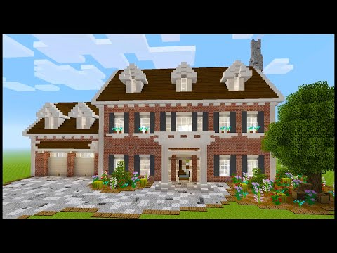 Minecraft How To Build A Colonial House Part 1 Youtube