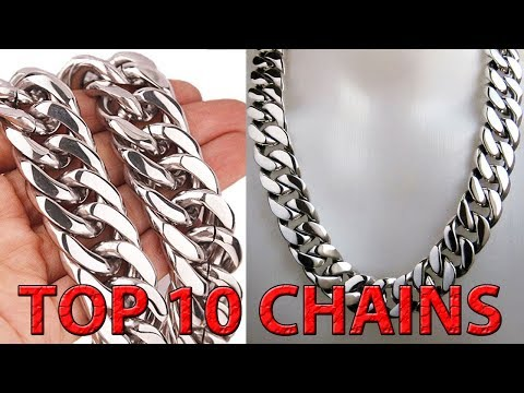 TOP 10  SILVER CHAIN DESIGNS FOR MEN || SILVER ROPE CHAIN
