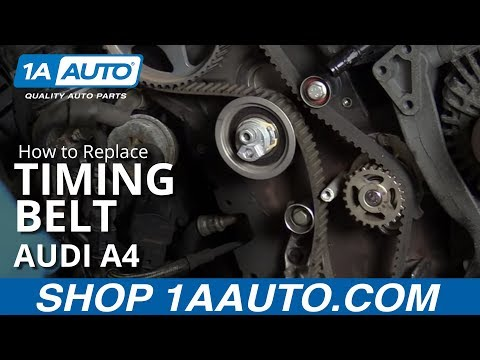 How to Install Replace Timing Belt Water Pump 2005-08 Audi A4 2.0 T Turbo