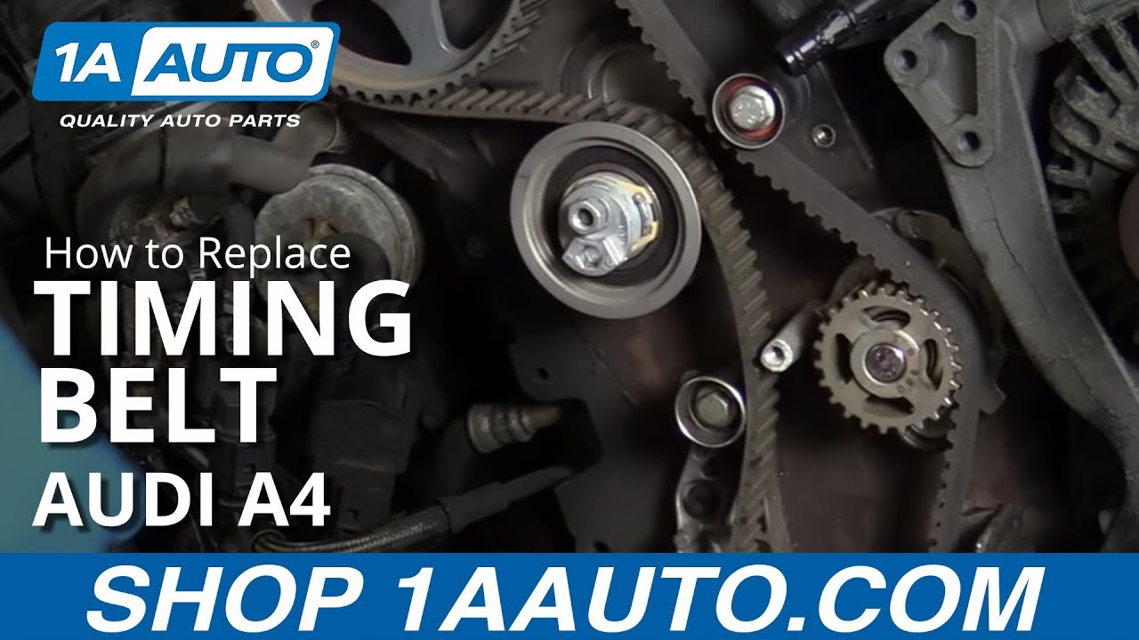 How to Replace Timing Belt 05-08 Audi A4 Sedan Wagon - YouTube | Audi Timing Belt |  | YouTube
