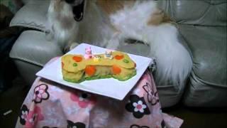 自作ケーキでお祝い.