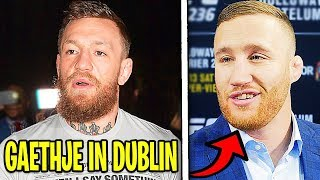 Conor McGregor vs Justin Gaetjhe at welterweight in UFC Dublin, Nate Diaz UFC return, Khabib