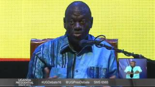 2nd Presidential Debate:  Kizza Besigye gives opening remarks