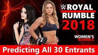 WWE Women's Royal Rumble 2018: Predicting All 30 Entrants | WWE Women Roster