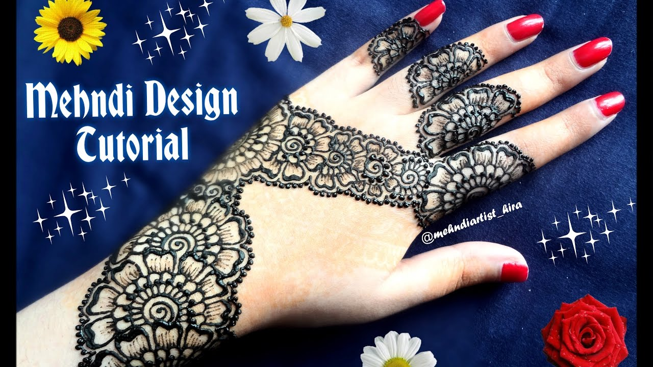 Arabic Mehndi Designs 2013 Facebook - How to apply easy simple henna mehndi designs for hands tutorial for beginners eid marriage
