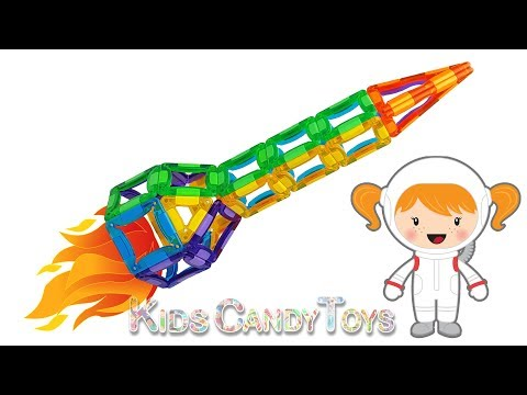 DIY Rocket Spaceship Construction MagCreator Learn Colors Fun for Kids Magnet Toys