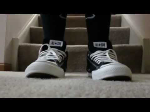 0e9c3bf426bef0 Converse Low Cut Black and White  ON FEET  - YouTube