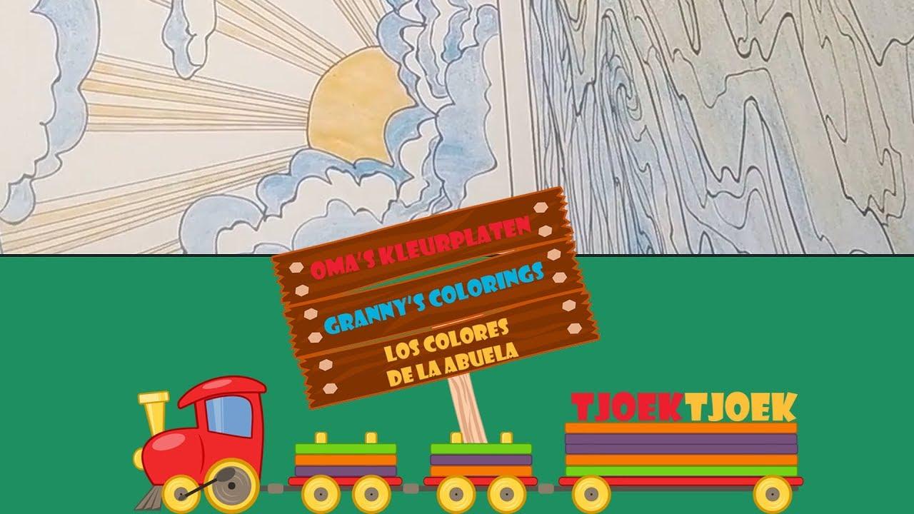 Kleurplaten Zonsondergang.Oma S Kleurplaten Zonsondergang Youtube