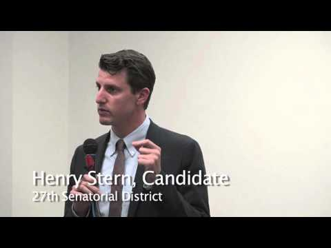 Henry Stern, Democratic Candidate Intro for 27th District US Senate Seat
