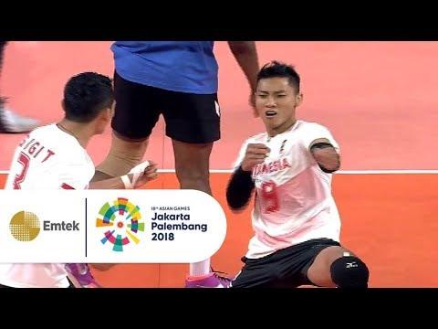 Highlight Bola Voli Putra Indonesia Vs Thailand Asian Games