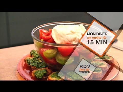 Tomate Burrata en moins de 15 min