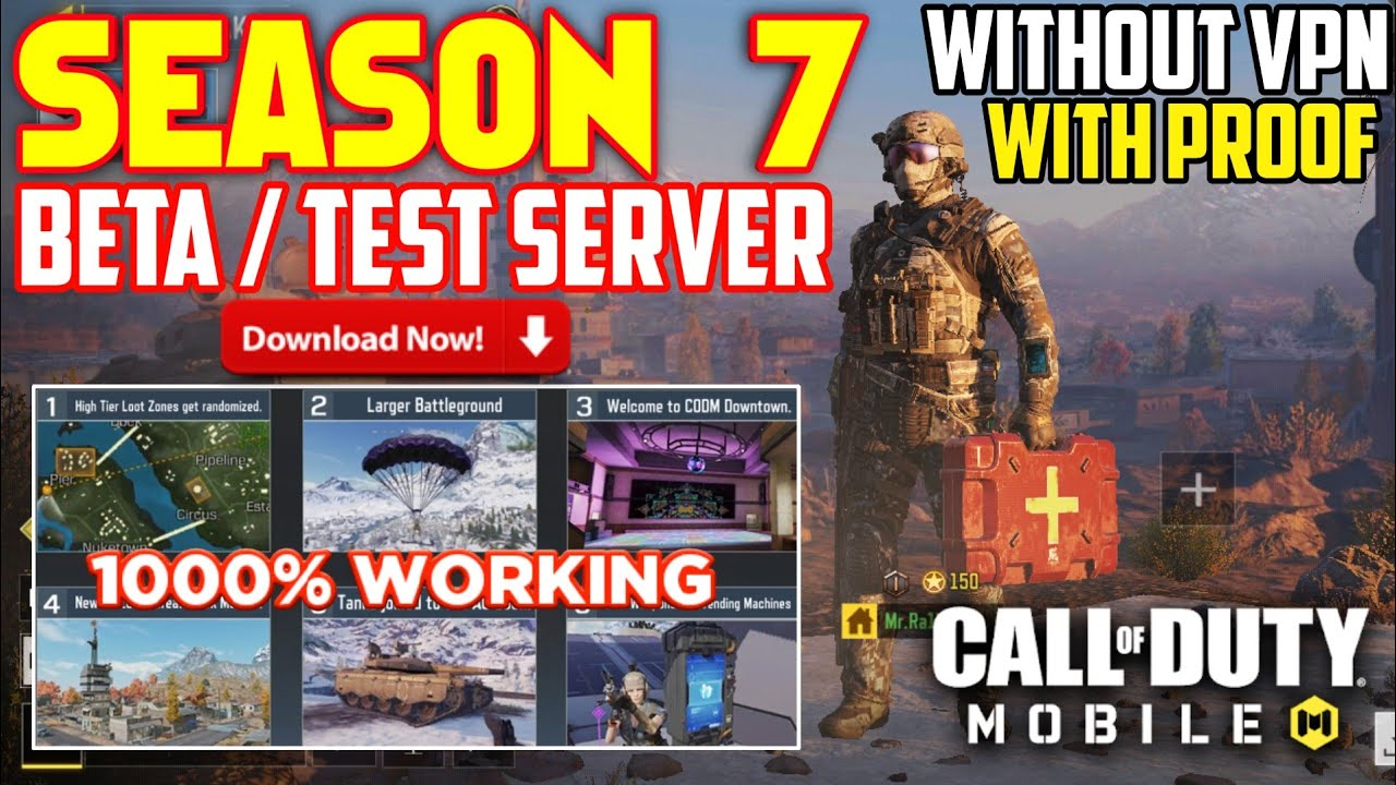 How To Download Season 7 Test Server Call of duty mobile | cod mobile test server | cod mobile | S7