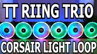 Thermaltake Riing Trio vs. Corsair LL120!