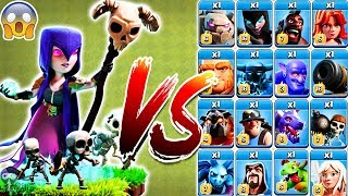 Witch vs All Troops Clash of Clans | Witch vs Every single Troop | Witch vs Night Witch